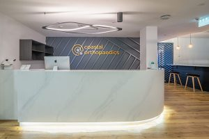 Coastal Orthopaedics Modern Reception Area